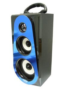 Портативная акустика MP3 (SD, USB, 2x5W, FM, встроенный + аккум.BL-5С, 3*AA, ДУ)