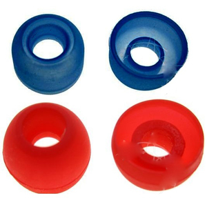 Вкладыши ушные для наушников, 2 пары, красные и синие