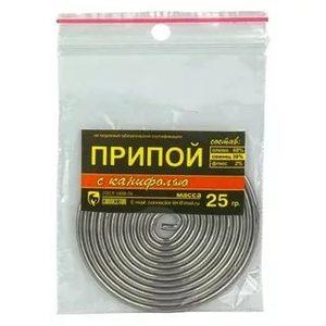 Припой ПОС-61 25гр с канифолью Connector