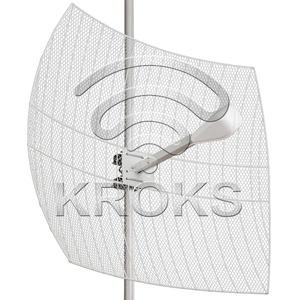 Направленная параболическая 3G/WiFi/4G MIMO антенна 27дБ, KNA27-1700/2700