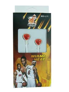 MD-L11 наушники вакуум (Miami Heat)