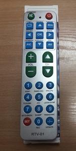 Пульт Д/у универ. RTV-01 (TV+ LCD+LED+HDMI, большие кнопки, инструкция на русском языке)