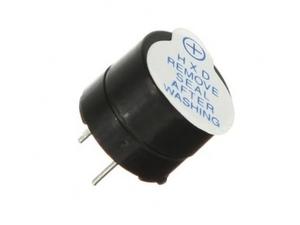Электромагнитный излучатель зуммер YMD-1205B 5V (d12 x h9.5 мм)