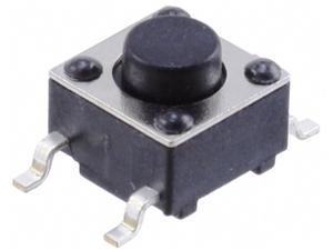 Кнопка  тактовая 6 х 6 х  5 (шток 1.5 мм) smd-монтаж 4c