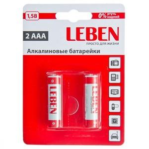 Аккумулятор никель-металлогидридный LEBEN AAA (2шт. в блистере)
