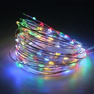 Гирлянда LED Огонек LD-154 (5м, цветная) на батарейках. OG-LDG07
