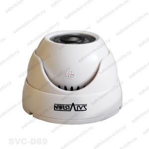 SVC-D89 3.6мм, 1Мп, с OSD. Внутренняя купольная видеокамера