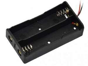Бокс для аккум. Li-ion 18650 х 2 провод 150 мм