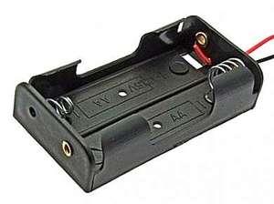 Бокс для батареек AA 2x1 провод 150 мм