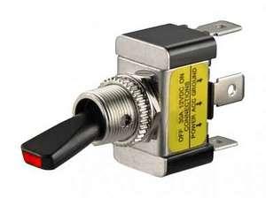 Тумблер M12 OFF-ON ASW-07D-2 LED12V 30A/12V 3c -красный-