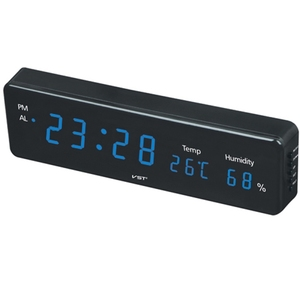Часы эл. VST805S-5 син.цифры (температура, влажность)