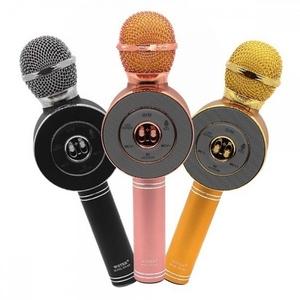 Микрофон WSTER WS-668 беспроводной (Bluetooth, динамики, USB)
