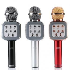 Микрофон WS-1818 беспроводной (Bluetooth, динамики, USB)
