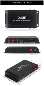 Ресивер DVB-T2 для автомобиля + 4 антенны, до 180км/ч.