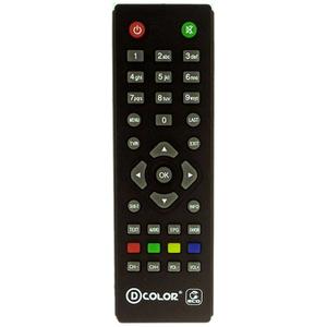 Пульт ДУ для ресивера DVB-T2 D-color DC1201HD mini, DC 911HD, DC702HD и др.