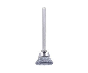 Щётка крацовка чашечная, серебро (D=3мм, D=17мм)