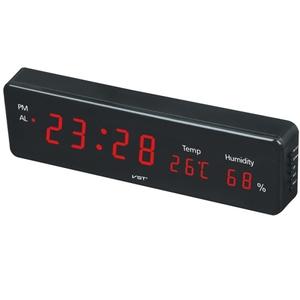 Часы эл. VST805S-1 крас.цифры (температура, влажность)