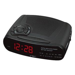 Часы эл. VST906-1 + радио  крас. цифры