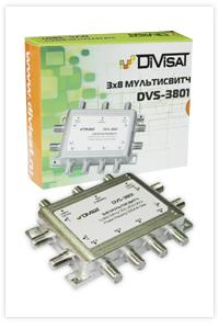 DVS-MS3801: Мультисвич, 2Sat+1Terr/8 выходов DiViSat