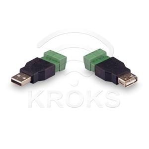 Комплект для передачи USB по витой паре USB(male)-USB(female)
