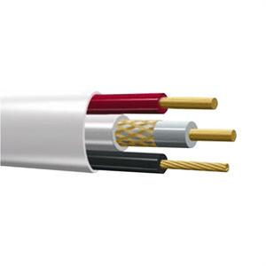 КВК-В  2х0.5мм (12V) , Кабель внутренний Plexus 100 м/4  белый