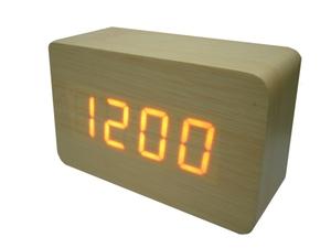 Часы эл. VST863-1 крас.цифры (СВЕТЛО-коричневый)