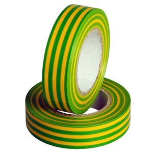 Изолента 0.13х15мм, 25 метров, желто-зелёная