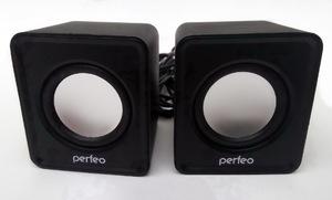 """Колонки Perfeo """"WAVE"""" 2.0, мощность 2х3Вт (RMS), чёрный, USB (PF-128-B)"""