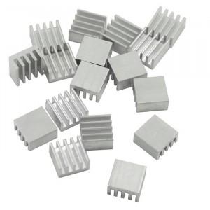 Радиатор алюминиевый ребристый 11х11х5 мм