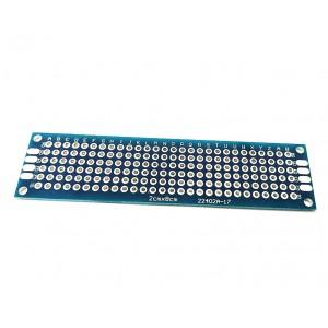 Двусторонняя макетная плата 2х8 см, синяя