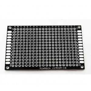 Двусторонняя макетная плата 4х6 см, черная