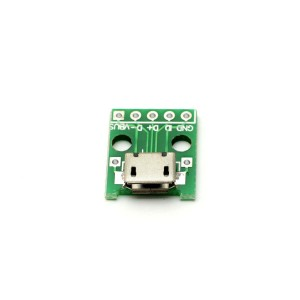Micro-USB гнездо плата-переходник (Breakout)