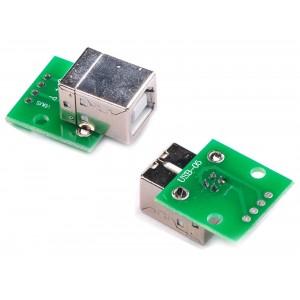 USB 2.0 type B гнездо плата-переходник (Breakout)