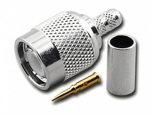 Штекер TNC на кабель RG 58/U обжим Ni/Gold pin/Delrin