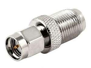 Переходник штекер SMA - гнездо F Ni/Gold pin/Delrin (301)