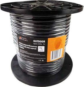 Кабель видеонаблюдения ККСВ-П 2х0,5мм (100м в бухте), черный, CADENA