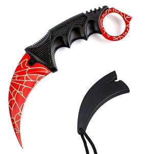 Нож Патриот CS-204 (Керамбит, красный с паутиной)