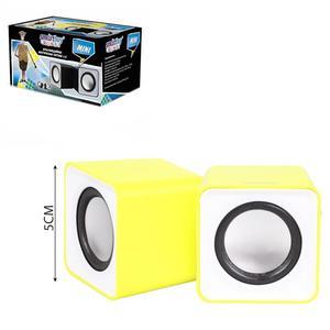Колонки мультимедийные SmartBuy MINI, мощность 4Вт, USB, желтые(SBA-2820)