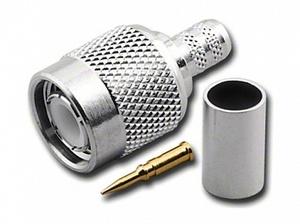 Штекер TNC на кабель RG 59/U обжим Ni/Gold pin/Delrin