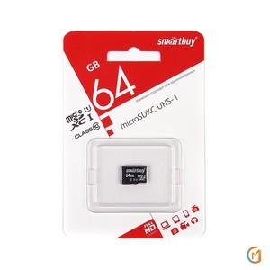 Smart Buy micro SDXC 64GB Class10 UHS-I (без адаптеров)