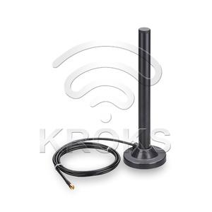 Круговая антенна KC6-900/2700A на магнитной основе, 900/1800/3G/LTE, 3-10 дБ.