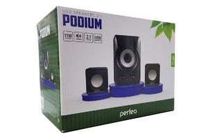 "Колонки Perfeo ""PODIUM"" 2.1 мощность 5Вт+2х3Вт, чёрный (PF-695)"
