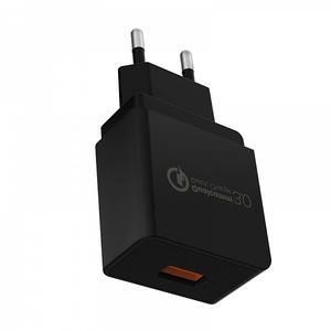OT-AD01 Черный ЗУ с USB (QC3.0, 3000mA)