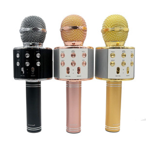 Колонка-микрофон WSTER WS-858 (Bluetooth/USB/Радио)