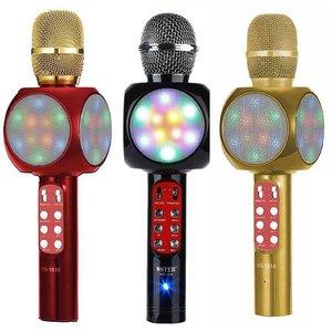 Колонка-микрофон WSTER WS-1816 (Bluetooth/USB/Радио/Светомузыка)