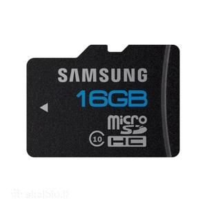 Карта памяти microSD Samsung, 10 класс, 16GB