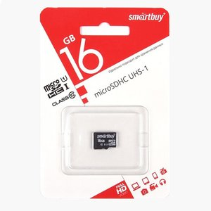Smart Buy micro SDHC 16GB Class10 (без адаптеров)