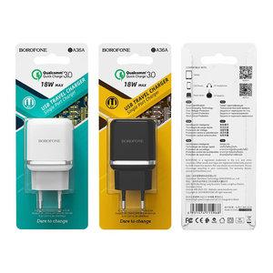 Сетевое зарядное устройство Borofone BA36A (быстрая зарядка QC3.0)