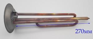 """ET1536-02cu ТЭН в/н 2000W 220V RF-92mm (МЕДЬ) клеммы """"мама"""""""