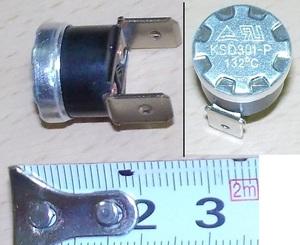 E124k <Термостат 132°C, клемма 6.3mm (нормально замкнут)